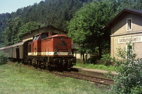 Ausfahrt aus Goßdorf-Kohlmühle für 112 498, Foto: Andreas Matschke