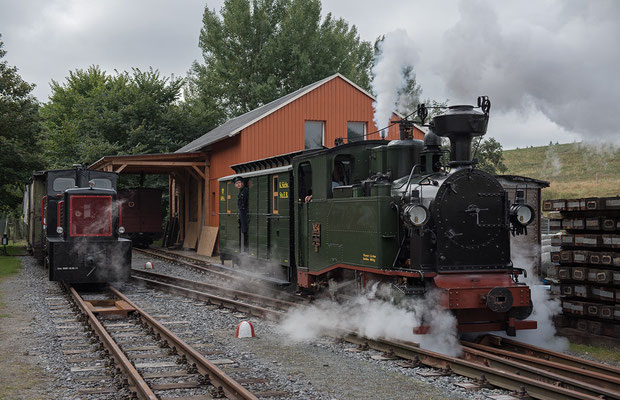 Präsentation des frisch restaurierten Zugführerwagens K2009.