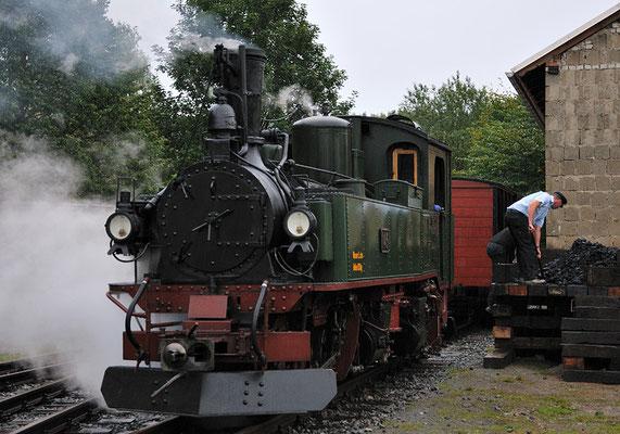 Die IV K am Güterschuppen, hier wurde die Lok bekohlt und gepflegt. 27.08.2011