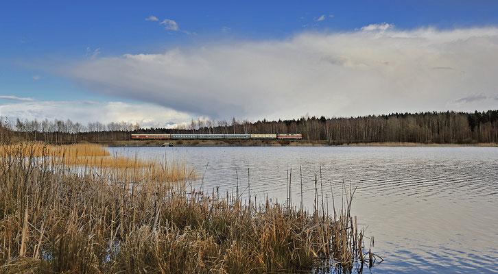 Am Nachmittag konnte die Rückleistung nach Löbau an der Talsperre Wallroda festgehalten werden, 04.04.15