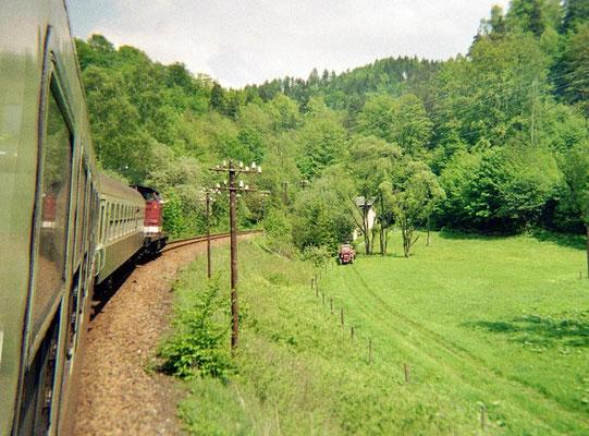 Zwischen Goßdorf-Kohlmühle und Mittelndorf im Sebnitztal. 1999, Foto: Pierre Güttler