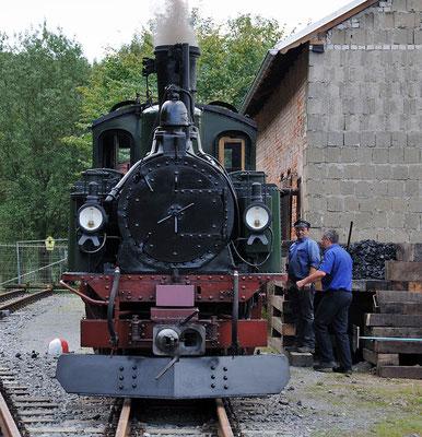 Die IV K wird am Güterschuppen restauriert. 28.08.2011