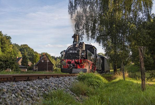 Die traditionelle erste Fahrt am Abend vor dem Fest darf natürlich nicht fehlen. Lohsdorf Richtung Unterehrenberg, 04.09.2020