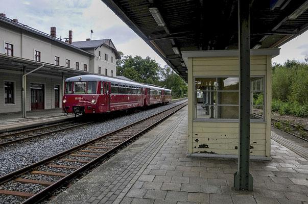 Der LVT im Bahnhof Sebnitz, 15.09.2012.