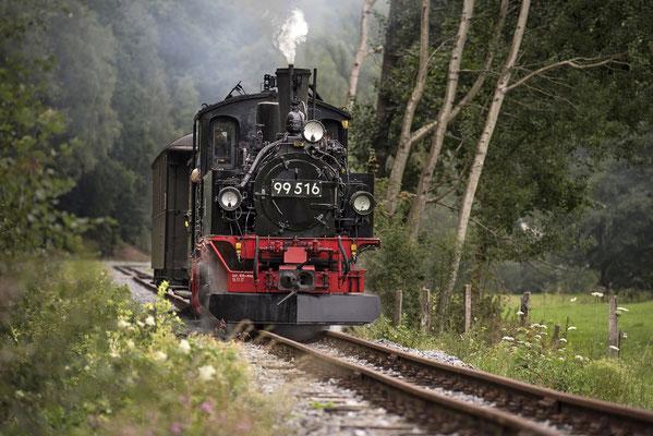 99 516 auf der Fahrt Richtung Unterehrenberg, 05.09.2020
