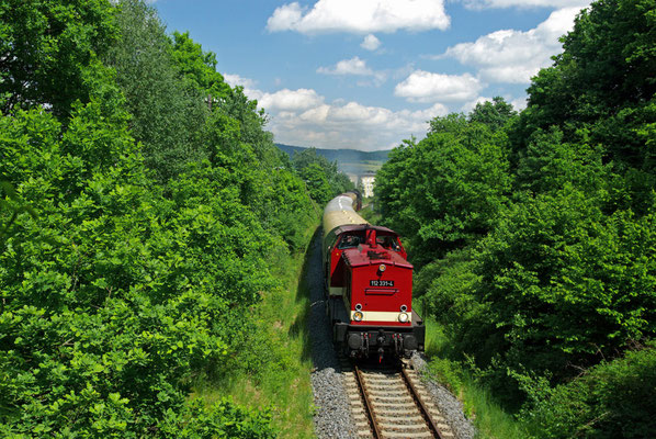 Der Sonderzug zwischen Neustadt und Krumhermsdorf ( Sonderfahrten zum Fest 675 Jahre Neustadt in Sachsen, Mai 2008 )