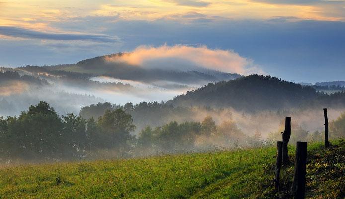 Nach einem Sommergewitter. Blick vom Adamsberg bei Altendorf in die Sächsische Schweiz. ISO 100, 58mm, f/8.0, 1/125sek.