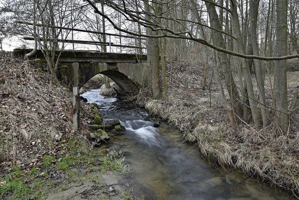 Die Brücke von der anderen Seite. Blickrichtung Ehrenberg, 04.03.19