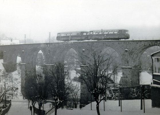 VT 2.09 auf dem Sebnitzer Stadtviadukt.