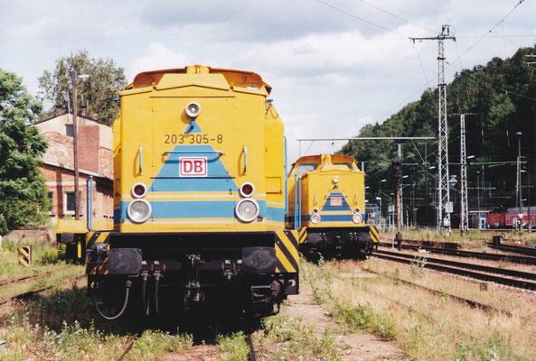 203 305 & 203 312 von DB Instandsetzung. Sommer 2004, Foto: Archiv Robert Schleusener