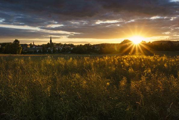 Sonnenuntergang über Neustadt am 30.06.2018.