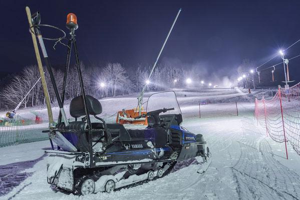Schneemobil am Skihang in Rugiswalde, 16.12.18