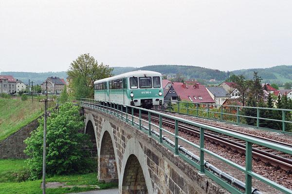 Auf dem Viadukt bei Langburkersdorf. 14.05.2005, Foto: Thomas Weber