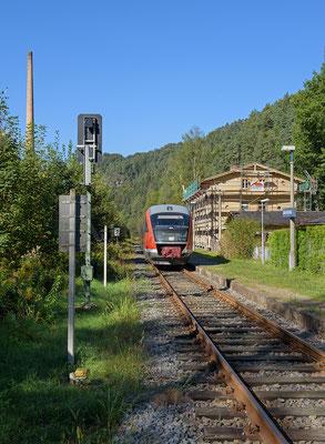 Der Schwarzbachbahn e.V. saniert aktuell das Bahnhofsgebäude von Goßdorf-Kohlmühle. Hierzu wurden erfolgreich Fördermittel aus dem Leaderprogramm beantragt. 15.09.2016