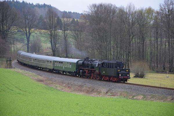 Bei Krumhermsdorf ist es nicht mehr weit bis nach Neustadt, gemächlich kann hier laufen gelassen werden. Foto: Robert Schleusener, 08.04.2017