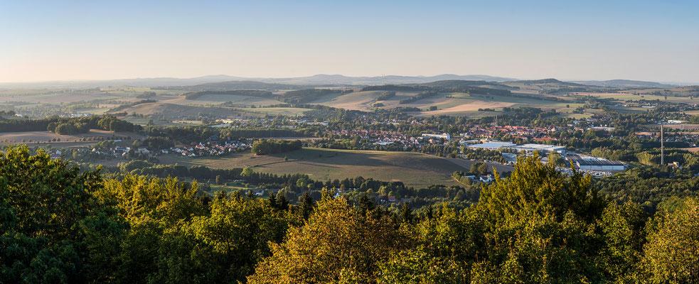 Panoramablick über Polenz und Neustadt vom Ungerturm, 12.09.18