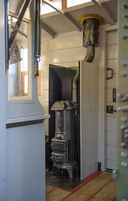 Blick ins innere des Zugführerwagens K2009, 26.08.2016
