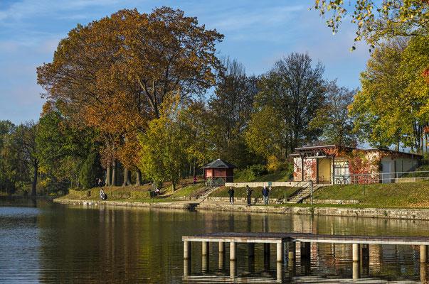 Herbst im Neustädter Stadtbad, Oktober 2019