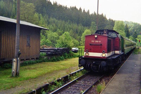 Regionalbahn von Bad Schandau nach Neustadt in Ulbersdorf. 1999, Foto: Pierre Güttler