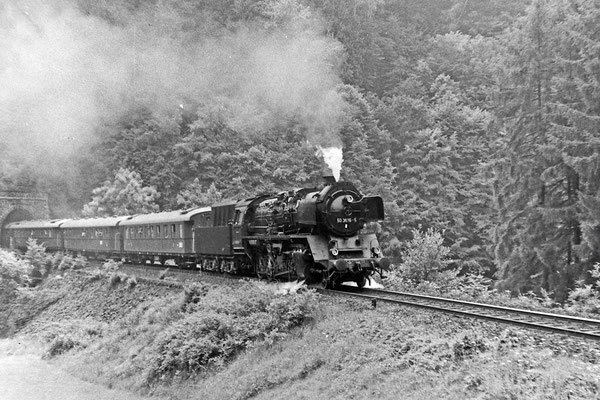 50 3616 mit Sonderzug in Richtung Neustadt am Tunnel 3.