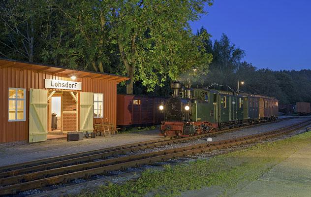 Auch dieses Mal gab es eine Nachtfotosession, der IK-Sachsenzug in Lohsdorf. 26.08.2016