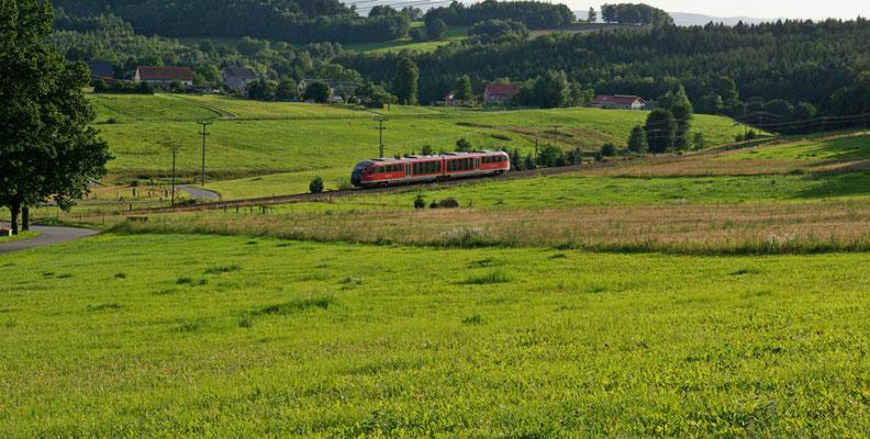 Regionalbahn nach Neustadt bei Krumhermsdorf, Juli 2009