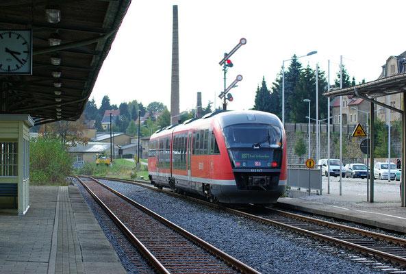 Ab morgen schon Geschichte, das Flügelsignal Richtung Bad Schandau wird in der Nacht demontiert, 19.10.2009