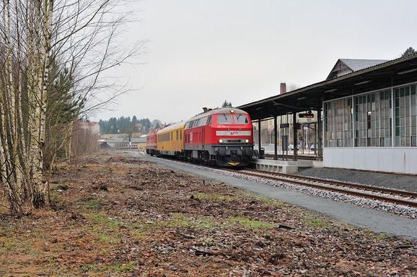 Messzug im Bahnhof Sebnitz, 11.12.2013
