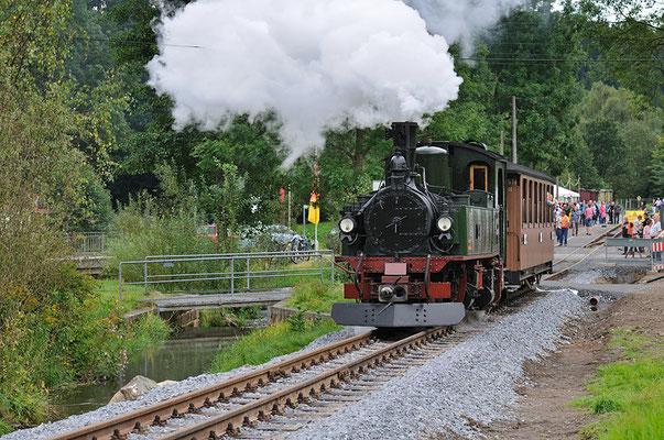 Wieder eine Ausfahrt des Zuges aus Lohsdorf. 28.08.2011