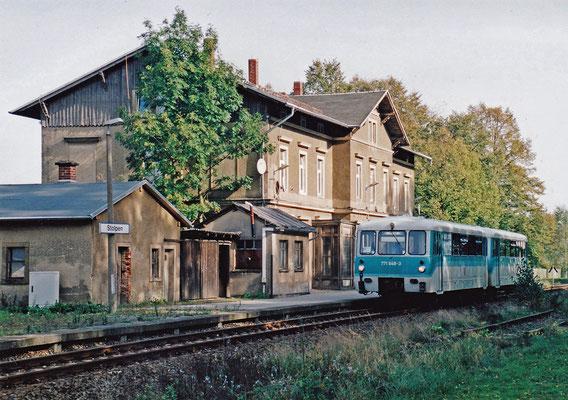 Bis ins Jahr 2001 verkehrte der VT 2.09 regelmäßig auf der Strecke Neustadt - Pirna bevor er von den neuen Regiosprintern abgelöst wurde.