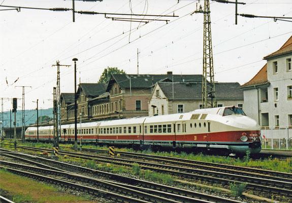 Dieseltriebzug VT 18.16 in Bad Schandau.