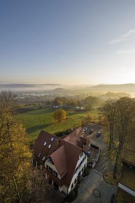 Goldener Oktober. Aussicht von der Götzinger Höhe, 19.10.2017