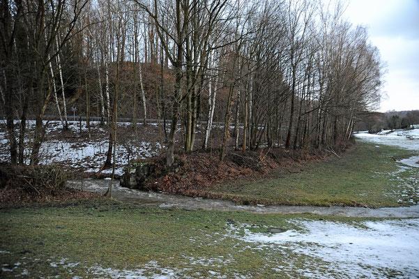 Bis zur nächsten Brücke wird zunächst gebaut. Blickrichtung Lohsdorf. 11.02.19