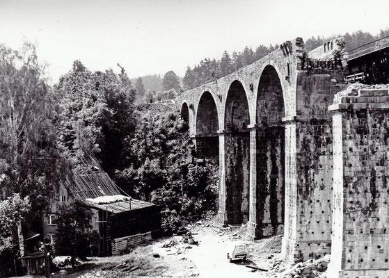 Zustand des Viaduktes nach der Sprengung. Foto: Archiv Sven Kasperzek