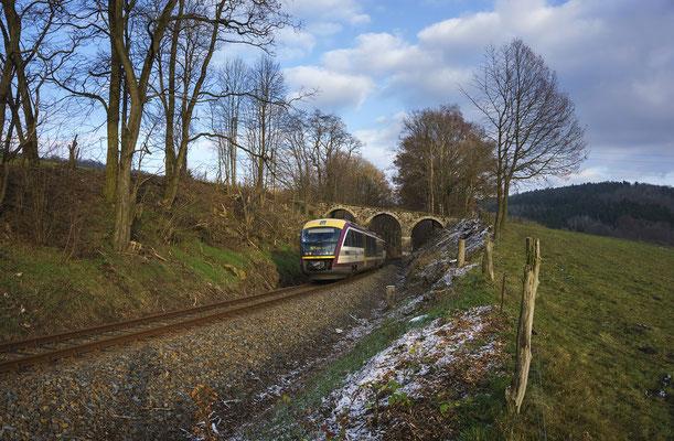 Desiro von Neustadt nach Sebnitz oberhalb von Schönbach, 02.12.2017