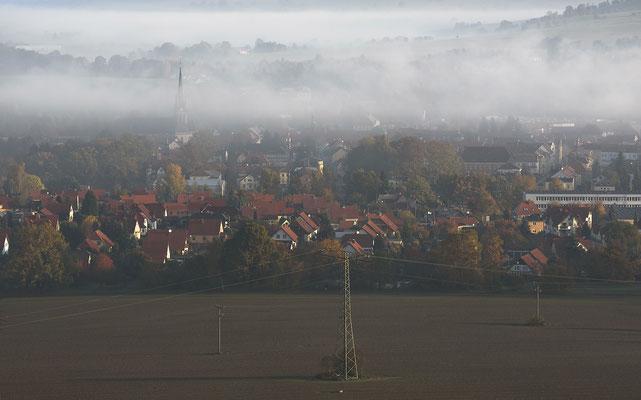 Neustadt unter Nebelschwaden, 19.10.2017