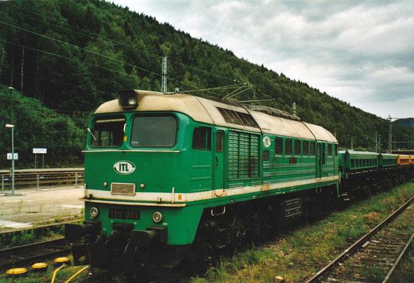 """""""Taigatrommel"""" 120 001 der ITL. Sommer 2004, Foto: Archiv Robert Schleusener"""