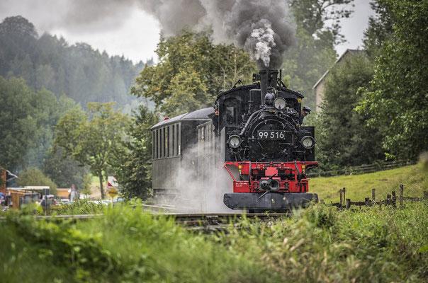 Ein Bahnhofsfest ohne den traditionellen Guss von oben - kaum vorstellbar in Lohsdorf :) Und so kam es auch dieses Mal wie es kommen musste. 05.09.2020