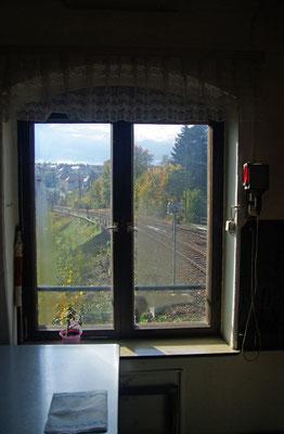Ein letzter Blick aus dem Fenster von Stellwerk 2 ( Richtung Stadtviadukt ), 19.10.2009