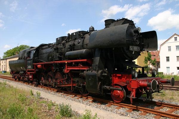52 8080 beim Rangieren in Höhe des Neustädter Lokschuppens zum Fest 675 Jahre Neustadt in Sachsen, 25.05.08, Foto: Michael Hube