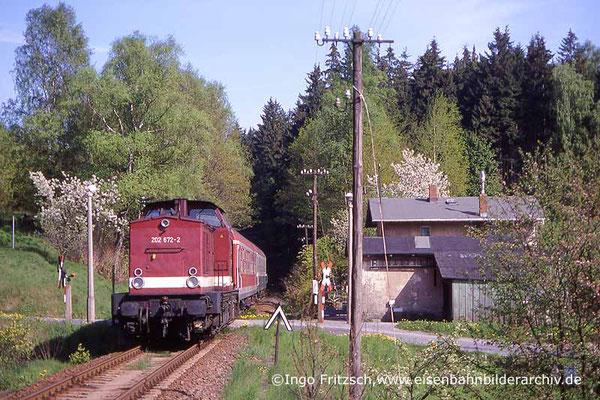 202 672 Bad Schandau-Bautzen bei Sebnitz. 05.05.1999 Foto: Ingo Fritzsch