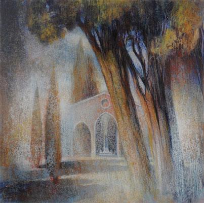 Passage des arbres - 70x70 cm - Acrylique sur toile