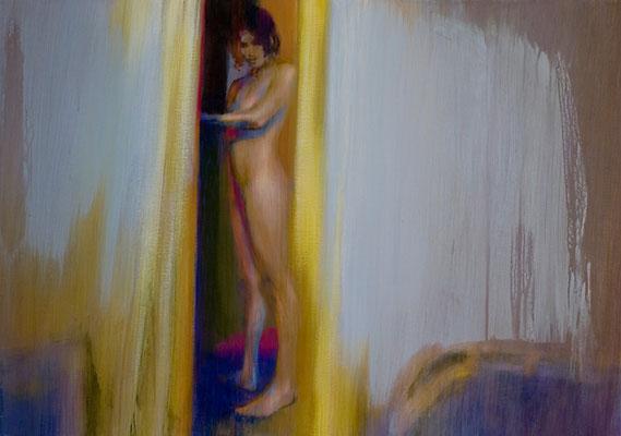 Intérieur, Sarah - 65x92 cm - Acrylique sur toile