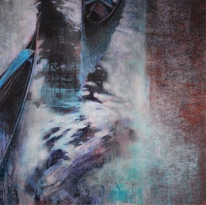 Gondoles - 80x80 cm - Acrylique sur toile
