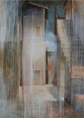 Sens organisés - 92x65 cm - Acrylique sur toile