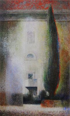 Passage protégé - 55x33 cm - Acrylique sur toile
