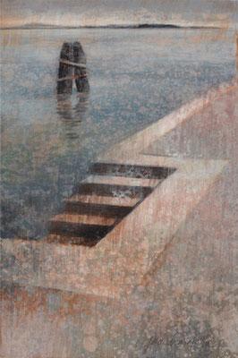 Lagune, Venise - 24x16 cm - Acrylique sur toile