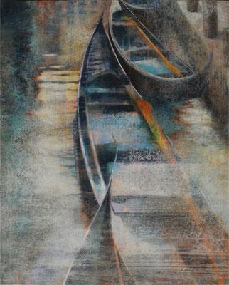 Berceau des gondoles - 81x65 cm - Acrylique sur toile