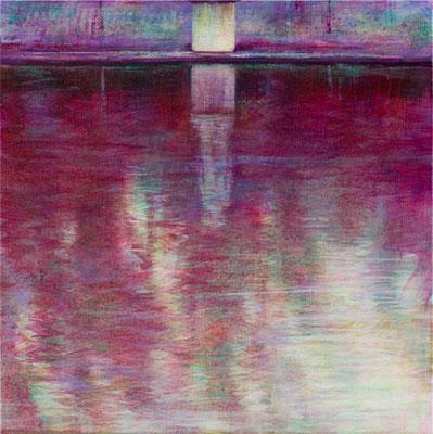 Cariatide sur canope - 30x30 cm - Acrylique sur toile
