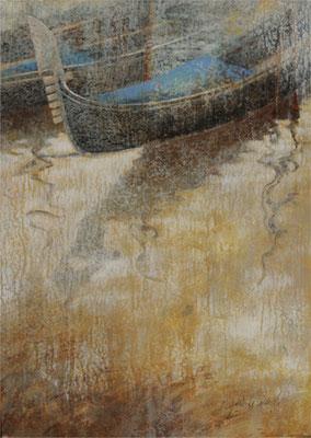 Midi à Venise - 46x33 cm - Acrylique sur toile